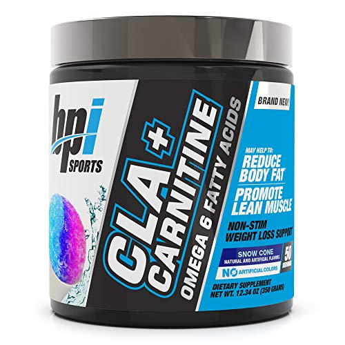 BPI Health CLA + Carnitine - CLA Plus Carnitine - Supports Metabolism - Helps Boost Performance - Non-Stimulant Formula - May Help Reduce Body Fat - Snow Cone - 50 Servings - 11.29 oz