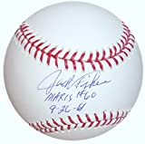 JACK FISHER SIGNED ROGER MARIS 60th HOME RUN 9/26/61 BASE BALL METS O's STEINER
