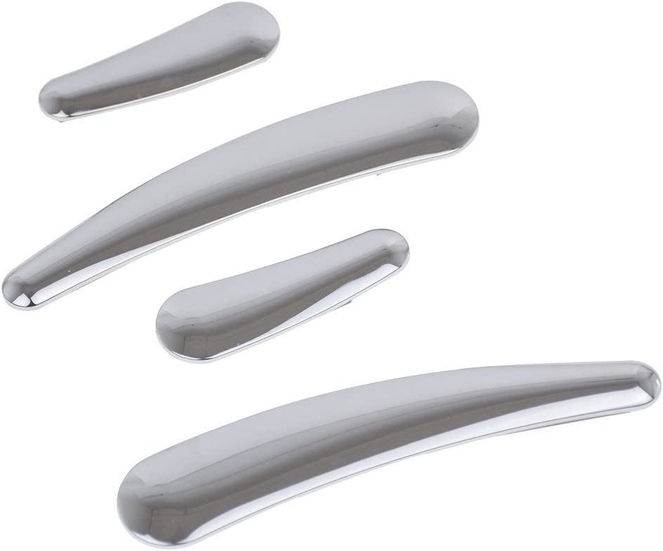 Chrome 4x Curved Swingarm Frame Insert One Set For Harley Softail FLS FLSTN FXSTC 08-16 09-12