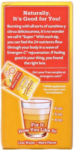 076314302970 - Emergen-C Dietary Supplement with 1000mg Vitamin C (Super Orange Flavor, 10-Count 0.32 oz. Packets) carousel main 10