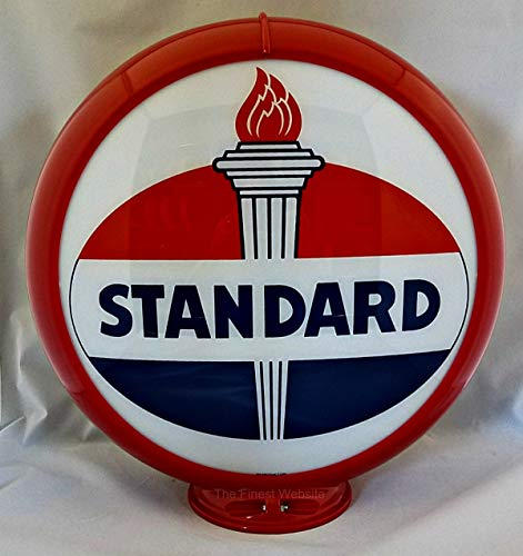 The Finest Website Inc. New Reproduction Standard Oil Gas Pump Globe Already Assembled - Red Outer Frame - Ships Free Next Business Day to Lower 48 -
