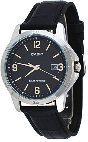Casio MTP VS02L 1A Standard Solar Leather