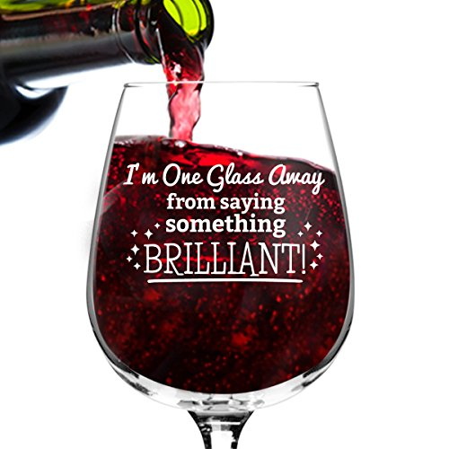 Something Brilliant Funny Wine Glass St. Patrick's Day Gifts for Women- Premium Birthday Gift for Her, Mom, Best Friend- Unique Present Idea