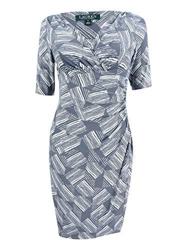 LAUREN RALPH LAUREN Womens Mini Abstract Print Cocktail Dress Gray 0 Abstract Print Mini Dress