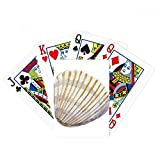 Yellow Scallop Marine Life Illustration Poker Playing Card Tabletop Board Game Gift