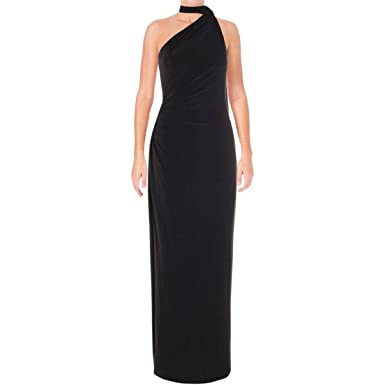 f279a12dd35 LAUREN RALPH LAUREN Womens Harvella One Shoulder Special Occasion Evening  Dress at Amazon Women's Clothing store: