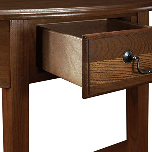 Foyer Console Game : Leick demilune hall console table medium oak import it all
