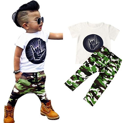 GBSELL Summer Toddler Camouflage Clothes