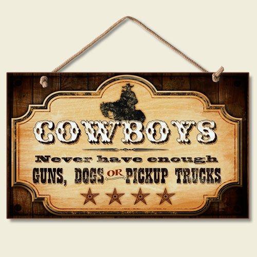 Western Decor Amazon: New FUNNY COWBOY SIGN Dogs Pickup Trucks Guns WESTERN