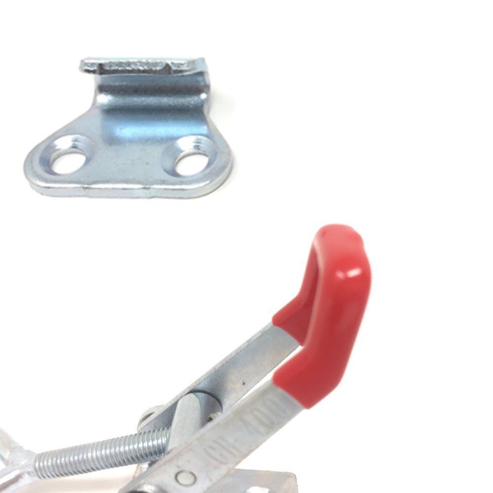 TOOGOO 8 piezas de Abrazadera de palanca 4001 Herramienta de mano para trabajo pesado de Liberacion rapida de Capacidad de retencion de metal Tipo de pestillo