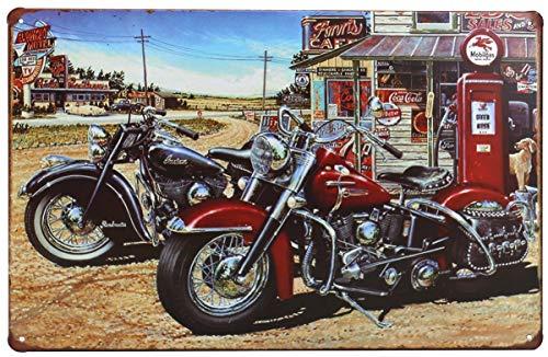 (Otartu 8x12'' Retro Vintage Tin Sign Plate Wall Plaque Decor Motorcycle Movie Poster (1268))