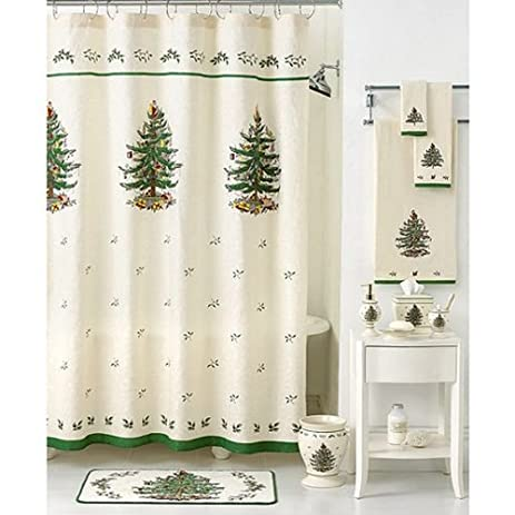 72quot X Spode Christmas Tree Shower Curtain