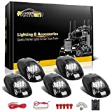 Partsam-5X-Smoke-Cab-Marker-Roof-Running-Light-White-12-LED-Lights-wWire-Harness-Replacement-for-20032018-Dodg