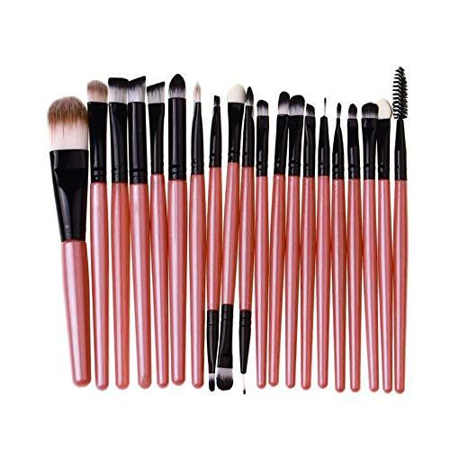 Ourhomer  Clearance Sale 20 Pcs Wooden handle Makeup Brush Set tools Make-up Toiletry Kit Wool Make Up Brush Set (Pink)