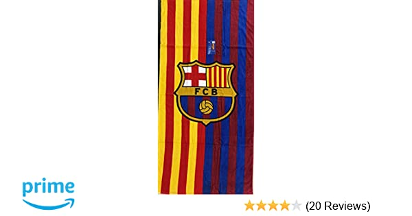 Amazon.com: MES QUE UN CLUB FC Barcelona Soccer Team Two Tone Beach Towel: Home & Kitchen