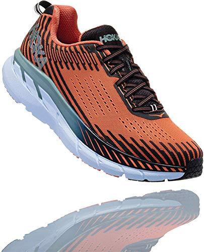 HOKA ONE ONE Mens Clifton 5 Nasturtium/Phantom Walking Shoe - 8 from HOKA ONE ONE