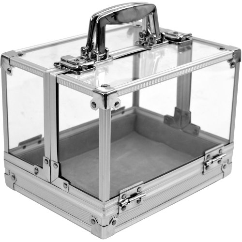 Chip Capacity Clear Acrylic - Trademark 600-Piece Clear Acrylic Case - Holds 6 Chip Trays Poker Chip Case (Clear)