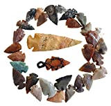 Arrowhead Lot, 32 pcs Indian Agate Stone Arrowhead