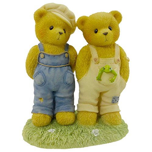 (Cherished Teddies Ernest And Bugsy Teddy Bear Frog Slingshot - Resin 4.00 IN)
