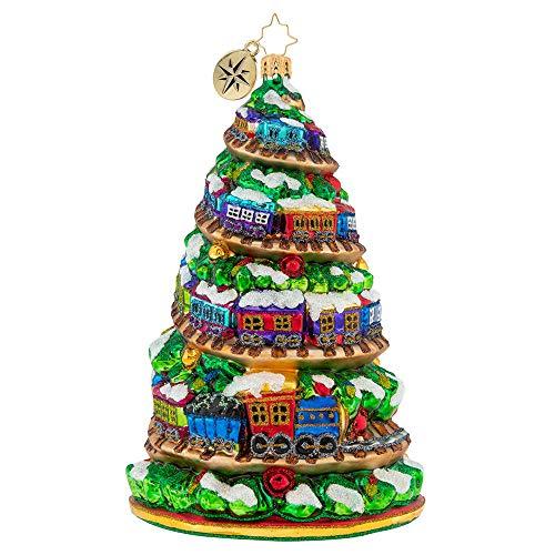 (Christopher Radko Terrific Train Track Tree Christmas Ornament)