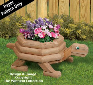 Woodworking Plan for a Medium Landscape Timber Turtle ()