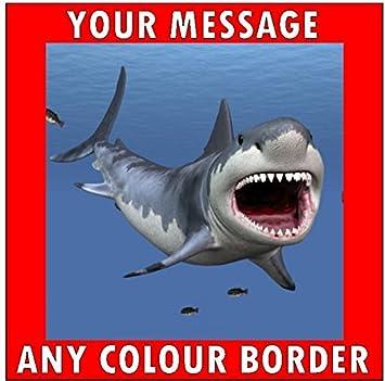 7.5 JAWS SHARK EDIBLE ICING BIRTHDAY CAKE TOPPER