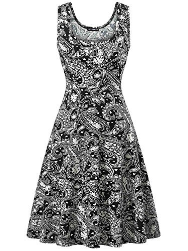 FENSACE Dress Line Floral A 13 Sleeveless Summer Women's 18016 xwH7UqnB