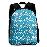 Jiaozhudf74 Bicycles Pattern College School Student Bookbag For Men&Women,Travel Outdoor Hiking&Camping Rucksack