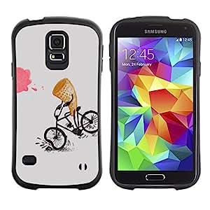 Suave TPU GEL Carcasa Funda Silicona Blando Estuche Caso de protección (para) Samsung Galaxy S5 / CECELL Phone case / / Ice-Cream Funny Cartoon Kids /