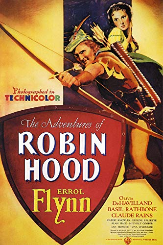 American Gift Services - The Adventures of Robin Hood Vintage Errol Flynn Movie Poster - 24x36 ()