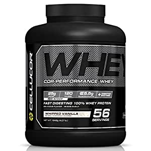 Cellucor Cor-Performance 100% Whey Protein Powder with Whey Isolate, Whipped Vanilla/G4, 4.07 Pound