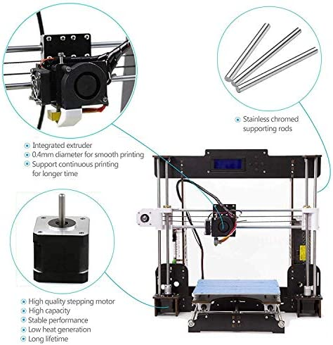 Win-Tinten A8 Madera Upgrade High Precision 3D Printer Reprap ...