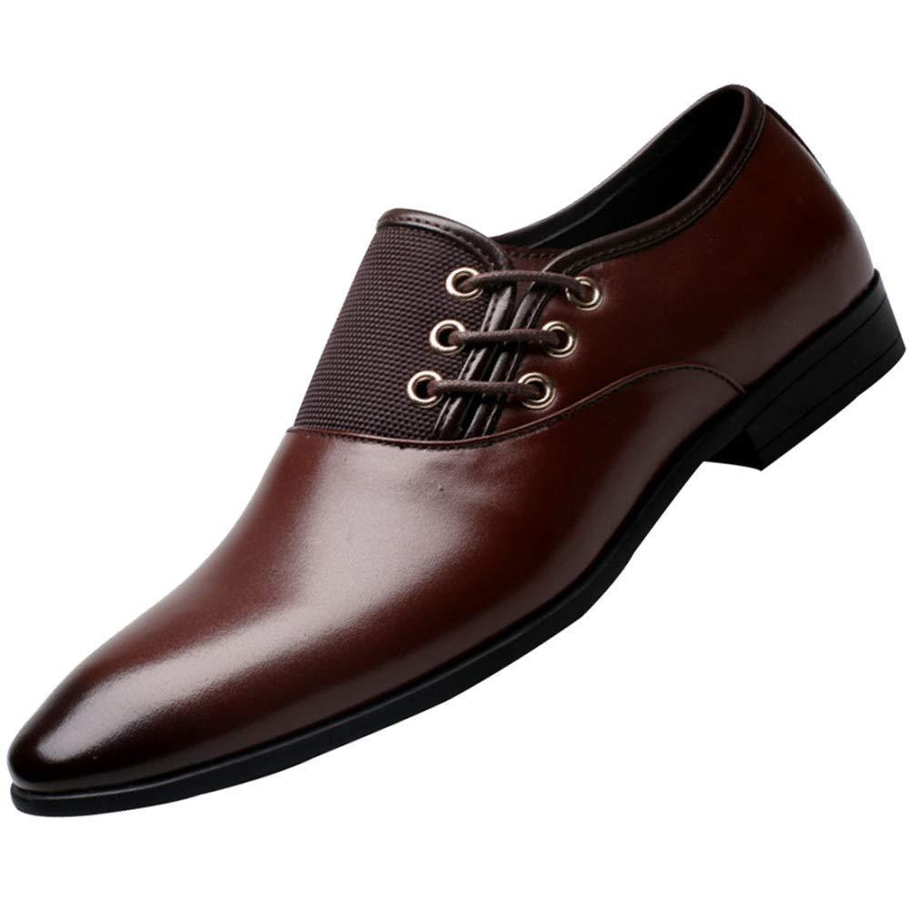 Oudan Herren Derby Schuhe Business Kleid Atmungsaktive Schuhe Hochzeitsschuhe (Farbe   Braun, Größe   46EU)