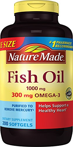 Nature Made Fish Oil 1000 Mg, Value Size, Softgels, 200-Coun