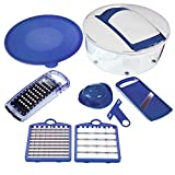Nicer Dicer Salad Chopper by Genius | 7 pieces | Fruit and vegetable slicer | As seen on TV … (blue)