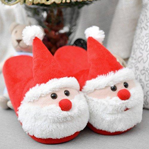 Di Antiscivolo Donna Ciabatte Regali 40 Natalizie Peluche Invernali Fenical Babbo Uomo Natale Pantofole 39 AqPRnn1