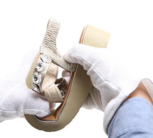 Diamant Rutschfeste Sandalen Weiche uBeauty Hausschuhe schwarz Leder Sexy Sommer Schuhe Komfortable Schöne Böhmen frauen Sandalen OwOqxTU4