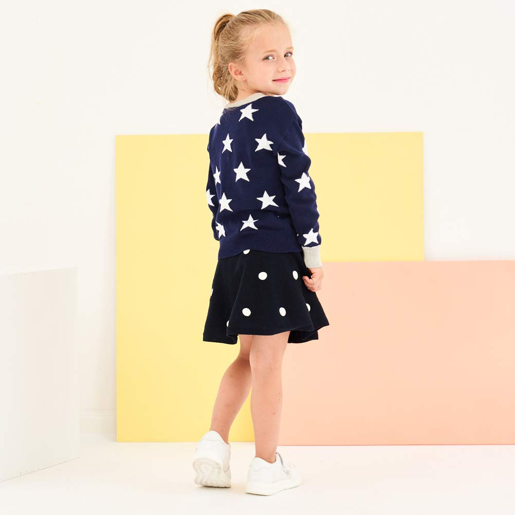 KIMJUN Baby Toddler Girls Pullover Sweater Kid Star Knit Sweatshirt Outfit 3-9t