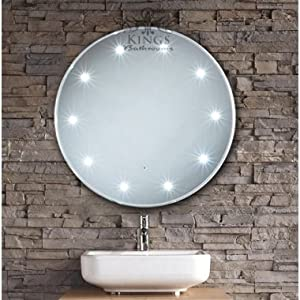 600mm Round LED Bathroom Mirror With Pull Cord