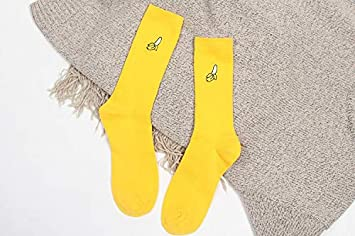 DCPPCPD Moda Mujer Otoño Invierno Cotton Socks Retro Femenino Adorable Bordado de Fruta Calcetines Largos Banana Aguacate,Banana,un tamaño: Amazon.es: ...