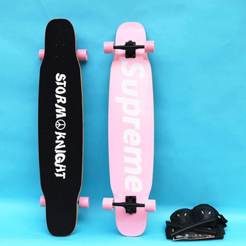 人気を誇る ダンスボードロングボードフォーホイールスケートボード成人初心者男の子と女の子ストリートスケートボード Leaf) pink (色 : Leaf) B07KR4BKTQ Single-sided Single-sided pink Single-sided pink, coco natural(ココナチュラル):1d7505e1 --- 4x4.lt