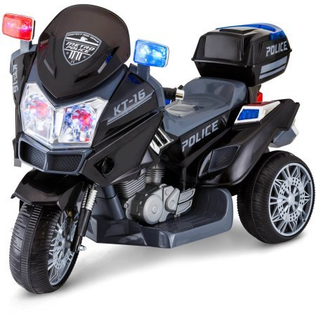 6V Police Trike Kid Trax Direct Connect One Step Battery Charging System Ride-On (Kids Riding Motorcycle)