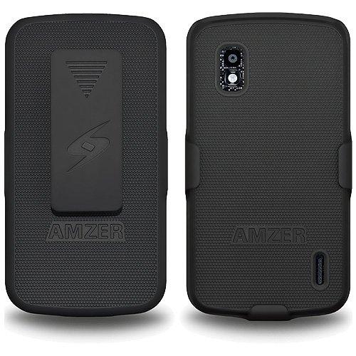 Black Retail Packaging Car Mounts Amzer AMZ95400 Lighter Socket Phone Mount with Charging /& Case System for LG Nexus 4 E960 Google Nexus 4 E960