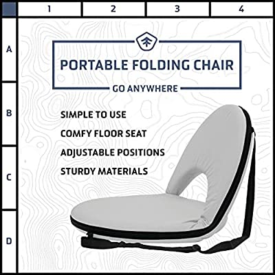STANSPORT - Go Anywhere Multi-fold Comfy Padded Floor Chair With Back Support (Gray) : Patio Chairs : Sports & Outdoors