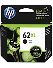 Original HP 62XL Black High-yield Ink | Works with HP ENVY 5540, 5640, 5660, 7640 Series, HP OfficeJet 5740, 8040 Series, HP OfficeJet Mobile 200, 250 Series | Eligible for Instant Ink | C2P05AN