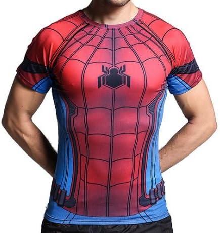 スポーツウェア スパイダーマン ドライストレッチ Tシャツ マーベルヒーロー 半袖 メンズ ⑮