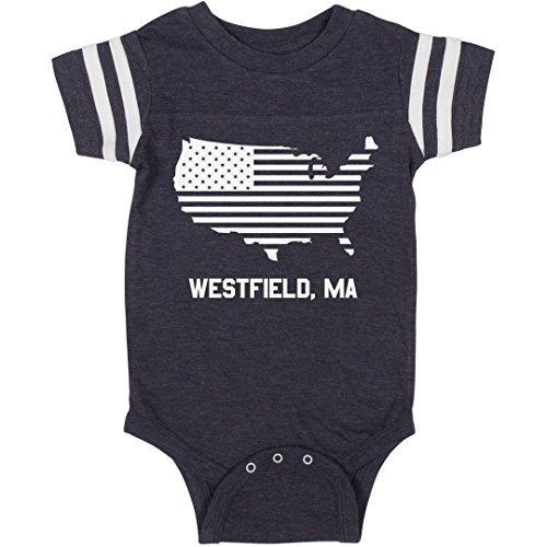 Westfield Single (FUNNYSHIRTS.ORG Westfield, MA Baby Pride: Infant Rabbit Skins Football Bodysuit)