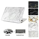 """JUSHENG® Pro 13 Retina 3in1 MacBook Marble Case (NO CD-ROM Drive), Ultra Slim Plastic Hard Shell Cover for MacBook Pro 13.3"""" with Retina Display A1502/A1425 (NEWEST VERSION) (marble01)"""