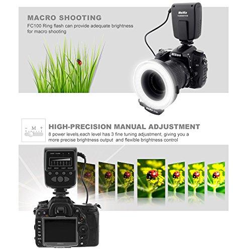 Meike LED Macro Ring Flash Light FC-100 for Canon Nikon Pentax ...
