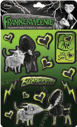 EK Success Brands Disney Frankenweenie Love at First Spark Sticker Medley
